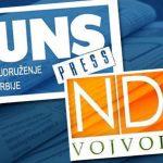 NUNS i NDNV: Nadležni organi da saopšte rezultate istrage, Cvetković da se obrati javnosti