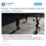 """FIGARO: """"Kosovo: solidarnost sa Srbima nije zločin"""""""