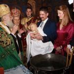 Princa Stefana kristio patrijarh Irinej u dvorskoj crkvi Sv. Andreja Prvozvanog