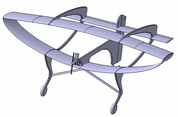 Bespilotna letelica Skakavac, L=0,6m, kompjuteska grafika 2015-2017
