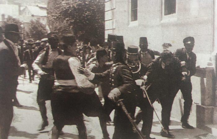 Sarajevski atentat. Foto: Javno vlasništvo