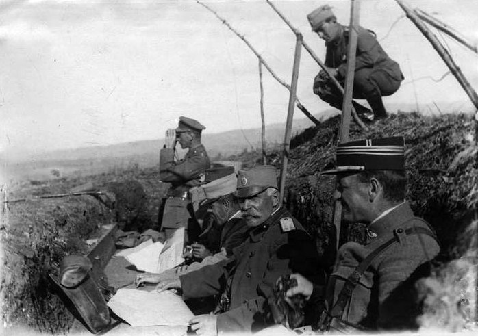 Vojvoda Živojin Mišić i general Žerome na koti 735