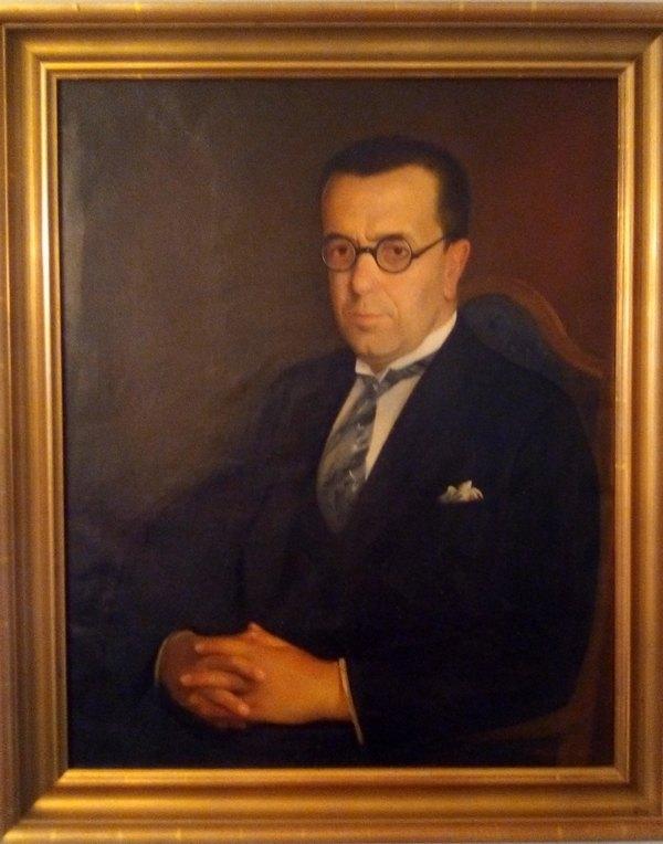 Dr Petar Rundo - portret uradio Ismet Mujezinovic (1934.)-min