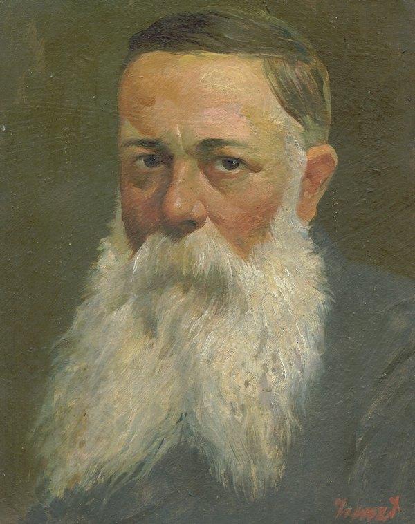 Miho Dezulovic, potret uradio Ismet Mujezinovi -min